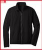 Top quality men's microfleece full zip jacket in black long sleeve