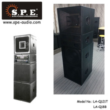 SPE AUDIO pa system Q-wave pro audio sound system, subwoofer + full range speaker + power amplifier + processor