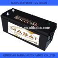 de plomo ácido de la batería para los coches baratos precio 12v 150ah de la batería