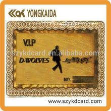 Top Sale SLE5542 SLE5528 Magnetic Strip Metal Membership Card