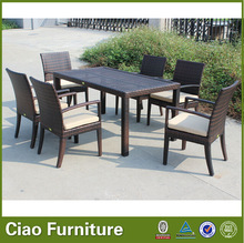 rectangle garden rattan table and chair