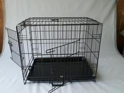 double doors folding metal dog cratemdog cage