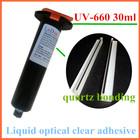 UV-660 Liquid optical clear adhesive quartz UV glue for quartz stone bonding