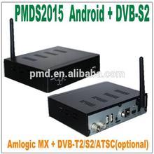 2014 satellite tv receiver Amlogic MX Quad Core full hd 1080p porn video android tv box 4.2.2 / 4K DVB-T2 / S2 / ATSC iptv box