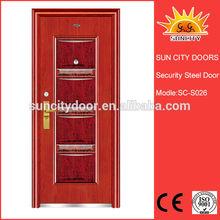Hot selling Turkey adjustable steel door decorative steel doors SC-S026