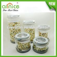 glass canister jar / airtight canister / tea coffee sugar jars