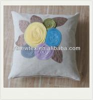 hand work sunflower applique home decor cushion cover