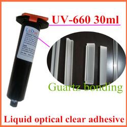 UV-660 Liquid optical clear powerful shadowless glue quartz optical adhesive