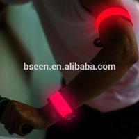 2014 christmas decoration glowing led slap armband for running