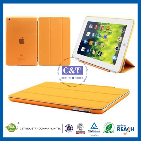 New arrival fashion style rotating stand leather case for ipad mini 2