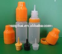 liquid nicotine for cigarette/20ml transparent PE smoke oil bottle, e liquid flavor bottle with needle dropper bottle