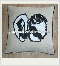 lovely dog applique sofa cushion for home decor