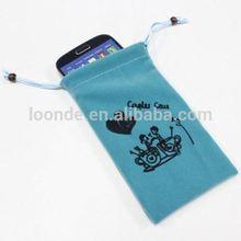 Superior quality custom cheap mobile phone velvet bag