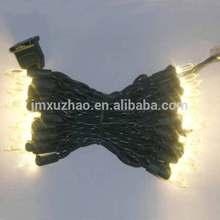 50L Green Wire Warm White Christmas lights 120V Mini LED Bulb