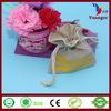 China Factory Alibaba Custom Small Gift Drawstring Printed Packaging Linen Bag