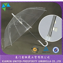 cheap transparent and frosty eco-friendly wholesale POE straight umbrella China supplier