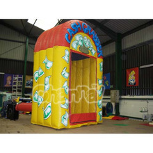 inflatable money catching machine/inflatable sport games
