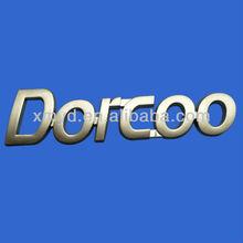 Customize Matte Golden 3D Car Emblems, Moulded ABS Plastic Nameplate