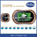 Detecção de movimento de segurança mms câmera, android video porteiro, memória visor da porta peephole