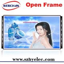 21.5 inch open frame advertising display , motion sensor lcd multi function digital photo fra