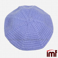 Crochet Beret chapéus para meninas
