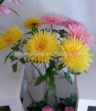 Single stem orange chrysanthemum silk flowers