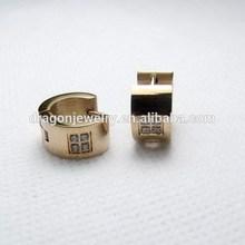 Durable customized black opal stud earrings