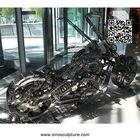 316 stainless steel sculpture,stainless steel motorcycle sculpture,fabricaiton factory steel sculpture beijing china