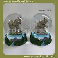 Polyresin 100mm elephant water globe