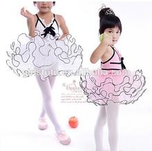 Europe and America kids girls swan lake ballet tutu tulle dress ball party children ballet dress