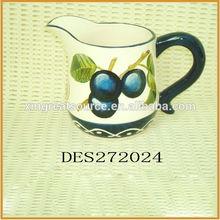 hotsale blueberry pattern ceramic milk jug