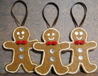 2015 New hot handmade tree skirt decor crystal craft wholesale ornament felt cookie cutter toy hanging Christmas gingerbread man