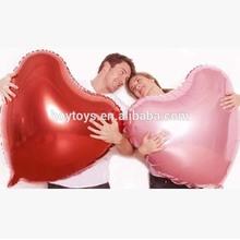 36 Inch Heart Shape Foil Balloons Giant Inflatable Mylar Balloons