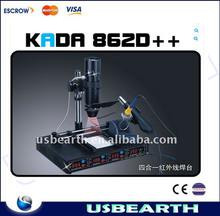 bga rework station Official agent:4 in 1 T862D++ visible infrared SMD/BGA rework station,hot sell,220V/110V avaiable