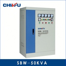 CE ROHS approved 50KVA full automatic compensation full auto electron voltage regulator(spr-500kva)