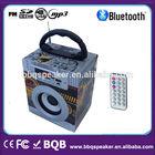 Classical usb portable radio wood speaker bluetooth car