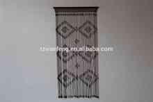 New Fashion Christmas Designs Wood Bead Curtain suede foil curtain