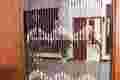 porta decorativa talão da forma de madeira da cortina cortina de palha