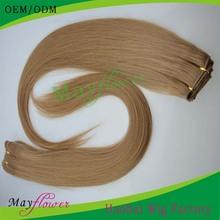 Mixed length 4pieces/lot no shedding machine made honey blonde brazilian hair weave
