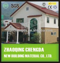 1.2m 0.4m synthetic spanish steel slate glazed roof tile