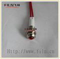 de alto brillo de metal 10mm 12v led rojo luz de la señal porras con 20cm de alambre