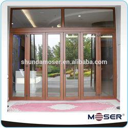 2014 new style wood and aluminum double glazed hinged door