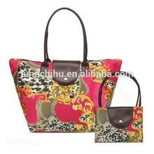 Foldable Nylon Compact Printed Shopping Bag,Shopping Tote Print bags (LCHBCC10)