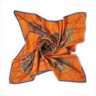 best selling top quality twill silk large square scarf 90*90 wholesale china