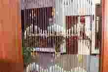 Decorative Bead Door Fashion Wood Curtain silk effect curtains