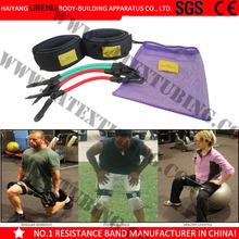 Leg Thigh Fitness Enhancer Exercise Latex Tube Resistance Band Ankle Strap NEW