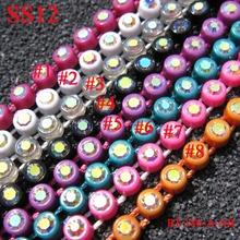 SS12 AB Color Rhinestone Banding Funiture Trim