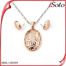 Necklace and earring sets rose gold 18 k gold jewelry sets