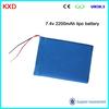 KXD 2200mah 7.4v lipo battery 6034502P2S long cycle life