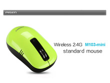 Wireless 2.4G standard mouse M103-mini (Green)